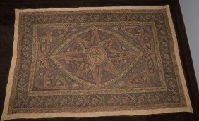 Antique Ottoman Turkish Embroider Textile With Tughra