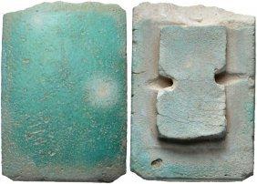 Egyptian Blue-green Faience Tile. Old Kingdom, 2686-218