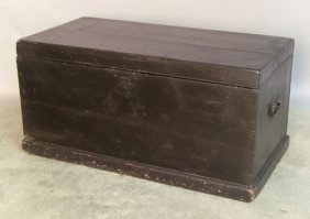 Black Painted Blanket Chest, 19th C., 18 1/2'' H.,
