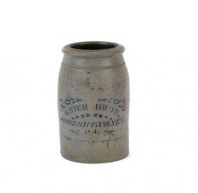 Rare Pennsylvania Stoneware Crock Stamped Grier