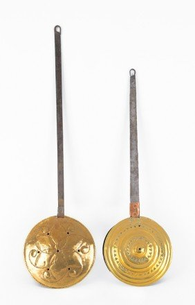 Two Brass Bedwarmers, 18th/19th C.