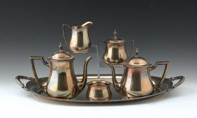 Wallace Sterling Silver Five-piece Tea And Coffee