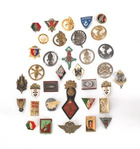 Group Of Nineteen French Foreign Legion Badges.
