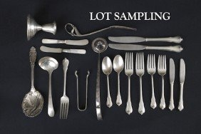 Wallace Sterling Silver Flatware, Together With A