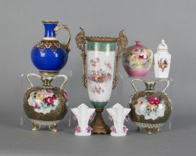 Group Of Miscellaneous Victorian Porcelain, Late