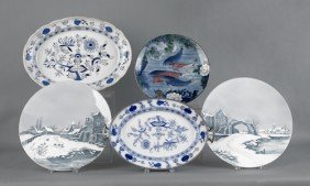 Five Pieces Of Porcelain, 19th/20th C., To Includ
