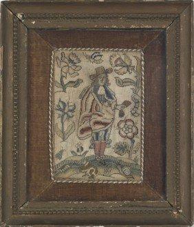 English Charles II Needlework Book Cover, Ca. 16