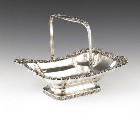 Philadelphia Silver Basket, Ca. 1815, Bearing T