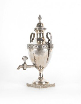 Irish Silver Water Urn, Ca. 1780, Bearing The T