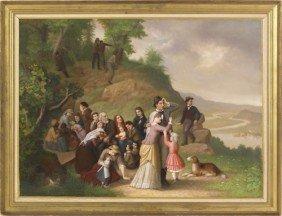 Hans Heinrich Bebie (American 1824-1888), Oil O