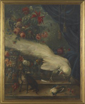 Continental Oil On Canvas Still Life, Late 19th