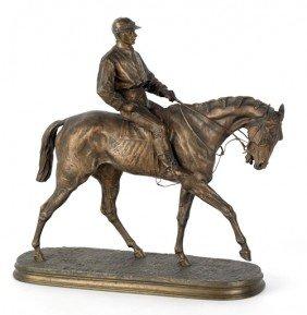 Pierre Jules Mene (French, 1810-1879), Bronze H