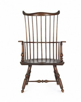 Combback Windsor Armchair, Early 20th C.