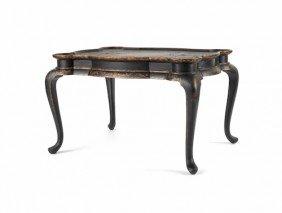 Maitland Smith Japanned Tea Table, 24 1/2'' H., 39