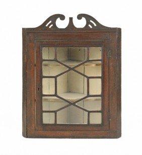 Georgian Oak Hanging Corner Cupboard, 18th C., 38