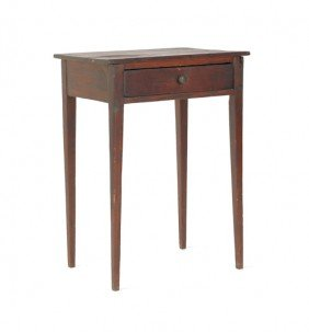 Federal Pine One-drawer Stand, 19th C., 28 1/4'' H