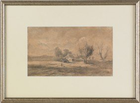 Watercolor Landscape, 20th C., Signed Paul Rosen