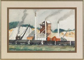 Luis Rapp (American, 1907-1992), Watercolor Indus