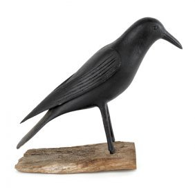 Crow Decoy, Ca. 1870, Made By Warren Scott, Bu