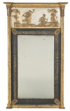 Hepplewhite Giltwood Mirror, Ca. 1795, The Frie