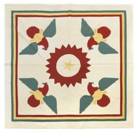 Pennsylvania Appliqu� Eagle Quilt, Early 20th C.