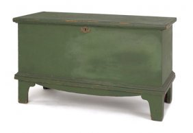 New England Painted Pine Blanket Chest, Ca. 1800