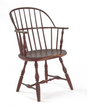 Philadelphia Painted Windsor Armchair, Ca. 1775