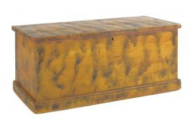 Small Pennsylvania Painted Blanket Chest, Ca. 18