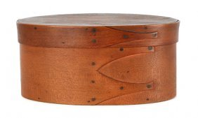 Oval Shaker Bentwood Box, Of Three-finger Const