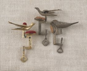 Three Victorian Sewing Birds, Late 19th C.