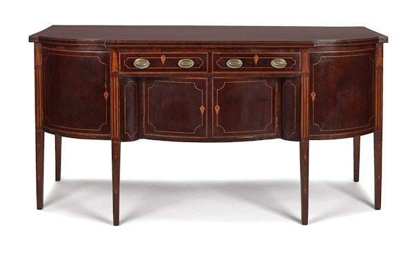 New york federal mahogany sideboard ca 1790 lot 606 for Sideboard york