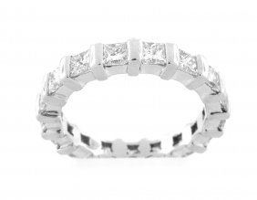 New 2.00ct Platinum Princess Cut Diamond Eternity Ring