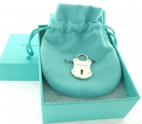 Tiffany & Co. Sterling Diamond Padlock Lock Pendant