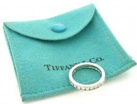 Tiffany & Co. Platinum Diamond Eternity Ring Size 6