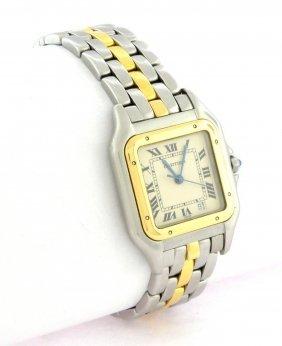 Cartier Panthere Midsize Unisex 18k Gold Steel Watch