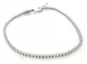 New 2ct 14k White Gold Diamond Tennis Line Bracelet