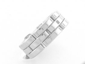 New 18k White Gold Cartier Panthere Ring Size 8.5