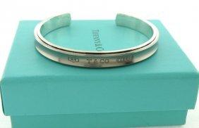 Tiffany & Co. Sterling Silver 1837 Titanium Cuff Bangle