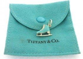 Tiffany & Co. Sterling Silver Blue Enamel Skate Charm