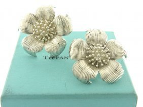 Vintage Tiffany & Co. Sterling Large Marigold Earrings