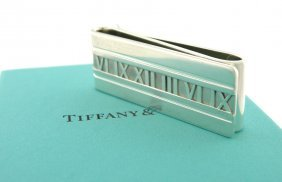 Tiffany & Co. Sterling Silver Double Atlas Money Clip