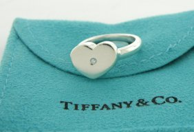 Tiffany & Co. Sterling Picasso Diamond Heart Ring