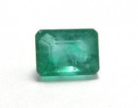 0.70ct Natural Colombian Green Emerald, Emerald Cut