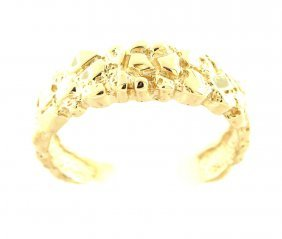 Vintage 14k Yellow Gold Nugget Cluster Ring Men's