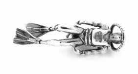 Authentic James Avery Sterling Silver Scuba Diver Charm
