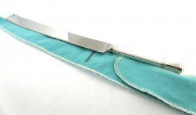 New Tiffany & Co Sterling Silver/steel Bread Cake Knife
