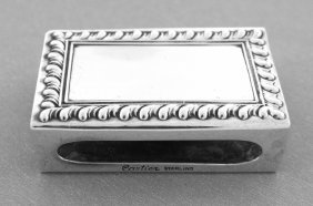 Vintage Cartier Sterling Silver Matchbox Matches Holder