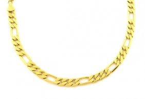 New 14k Yellow Gold Figaro Solid Chain Necklace 5mm 20""