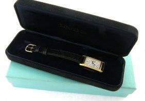 Tiffany & Co. Gold Plated Portfolio Ladies Watch