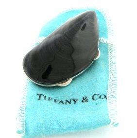 Vintage Tiffany & Co. Sterling Silver Enamel Pill Box